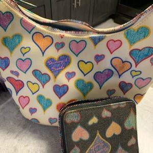 Dooney & Bourke heart purse with clutch wallet